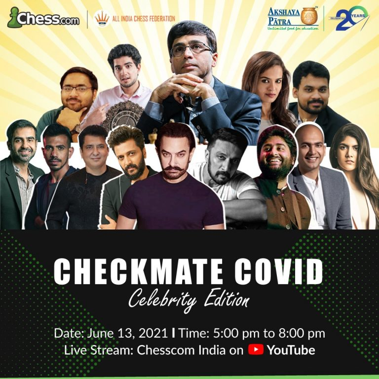 'Checkmate COVID – Celebrity Edition' to See Viswanathan Anand Face-off Against RenownedCelebrities and Businesspersons to Support Akshaya Patra's Food Relief Efforts