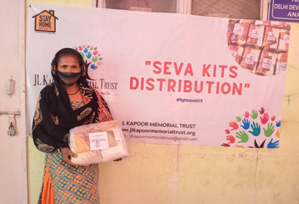 JL Kapoor Memorial Trust Pledges to Continue Its Covid Relief Work in DDA Transit Camp, Anand Parbat, Delhi