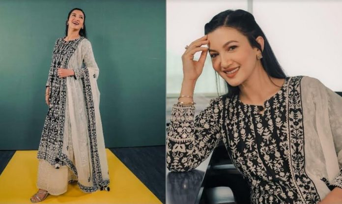 Actress Gauahar Khan ropes in charm with ethnic wear for a virtual event!